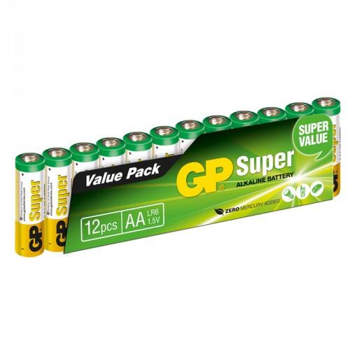 GP Super Alkaline AA  12-pack