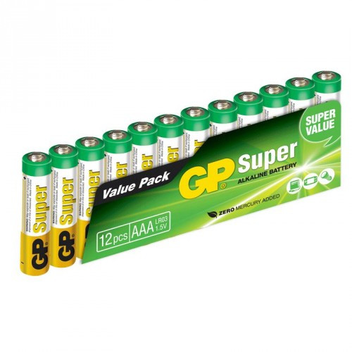 GP Super Alkaline AAA 12-pack