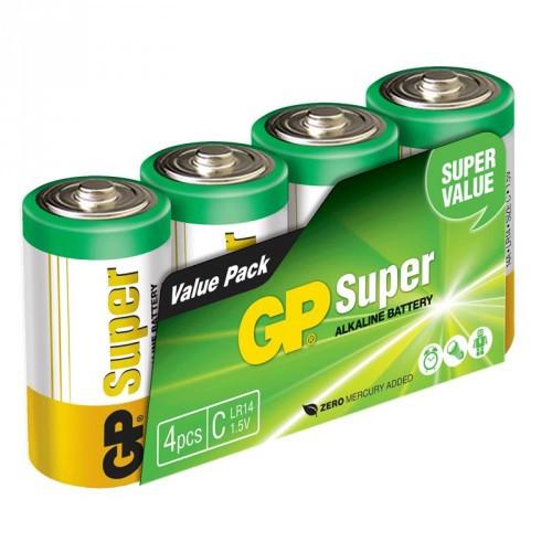 GP Super Alkaline LR14 4-pack