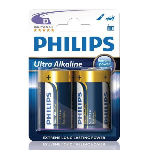 Philips Ultra Alkaline D LR20  2-pack