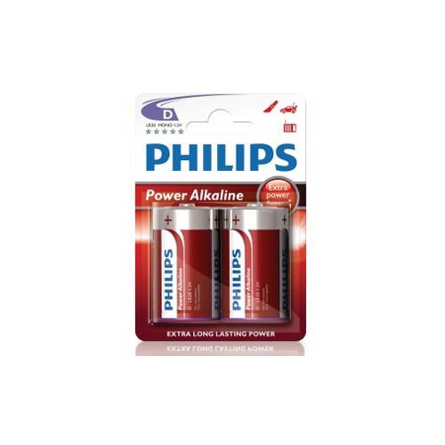 Philips Power Alkaline D LR20  2-pack