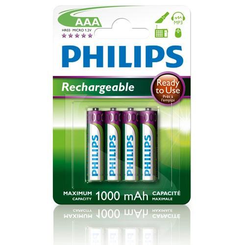 Philips Batt NiMH Ready AAA/1000 4-P