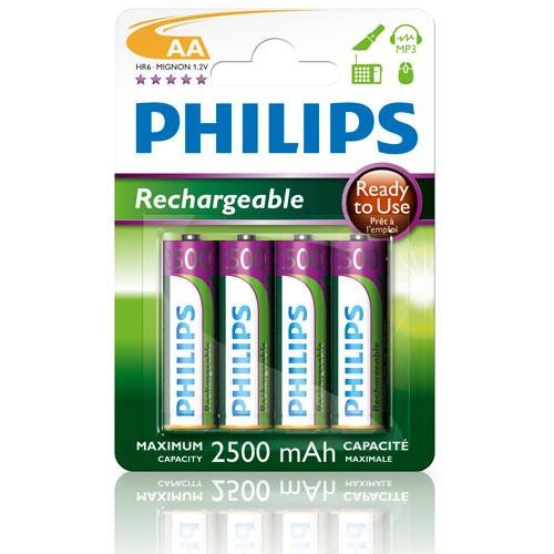 Philips Batt NiMH Ready AA/2500 4-P