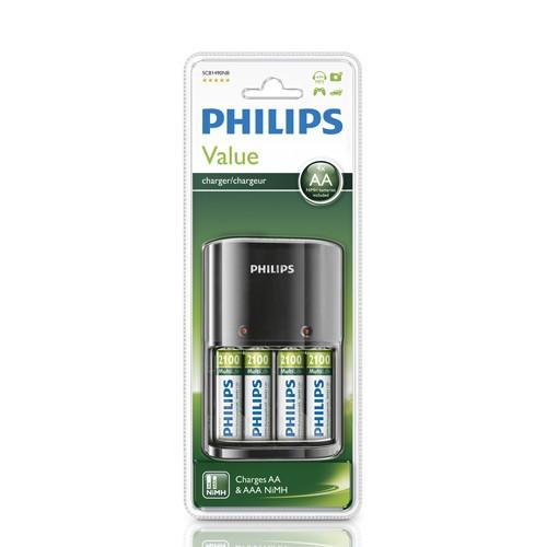Philips MultiLife Batteriladdare + AA