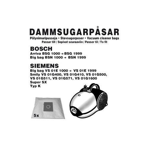 Champion Dammpåsar Bosch 5st