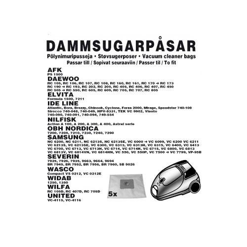 Champion Dammpåsar Nilfisk 5st