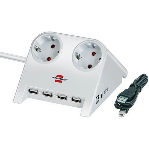 Brennenstuhl DesktopPower Plus med USB-hub