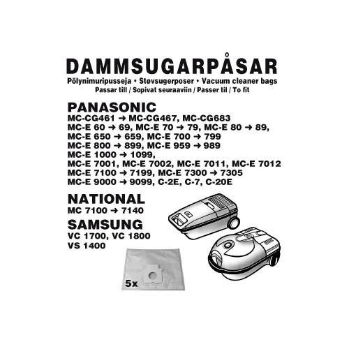 Champion Dammpåsar Panasonic