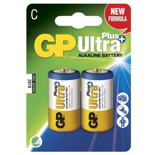 GP Ultra Plus Alkaline C LR14 2-p