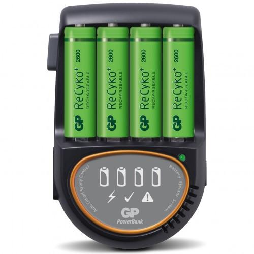 GP H500 Snabbladdare +4st 2600 AA