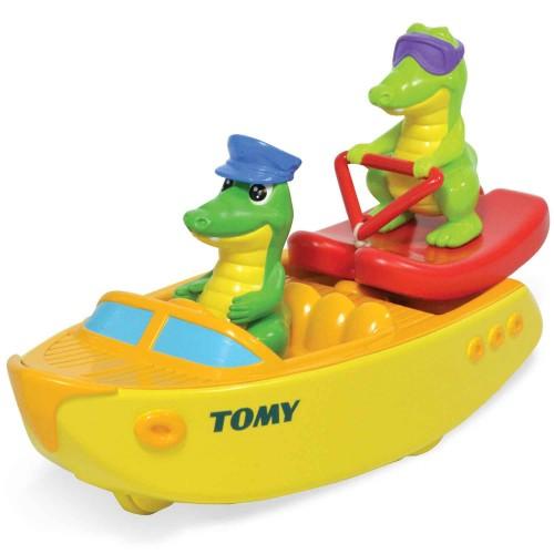 Tomy Badbåt Med Krokodil