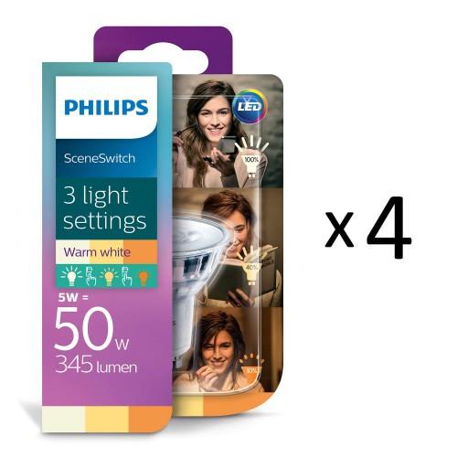 Philips LED SceneSwitch GU10 50W 4st