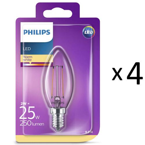 Philips LED Filament E14 25W Kron 4st