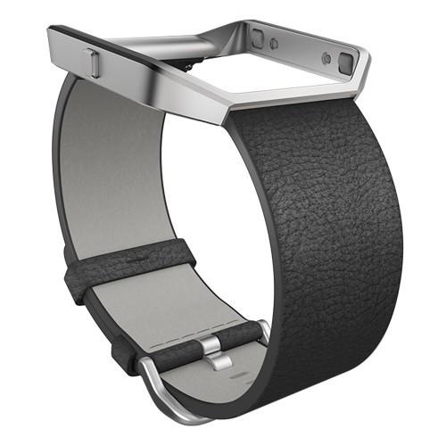 Fitbit Blaze Läderarmband Black Large