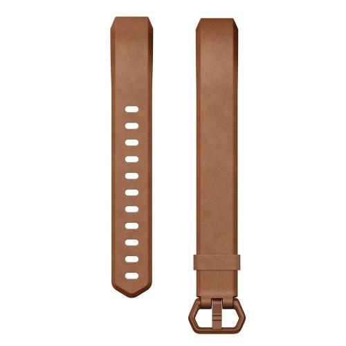 Fitbit Alta HR Läderarmband Brown L