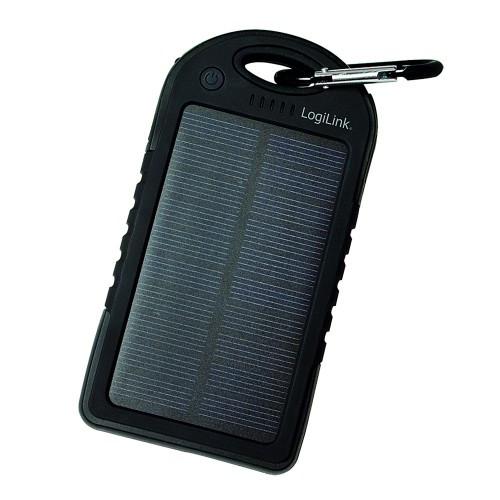 LogiLink Solcells-PowerBank 5000mAh