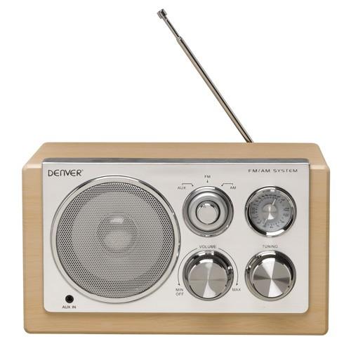 Denver Radio Ljust trä