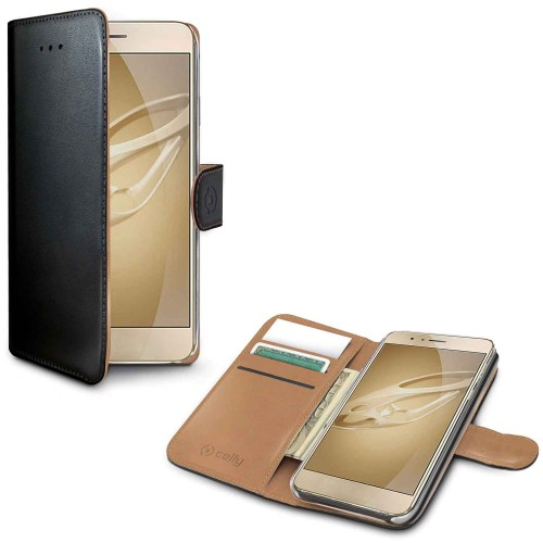 Celly Wallet Case Honor 8 Sv/Be