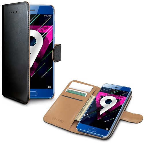Celly Wallet Case Honor 9 Sv/Be