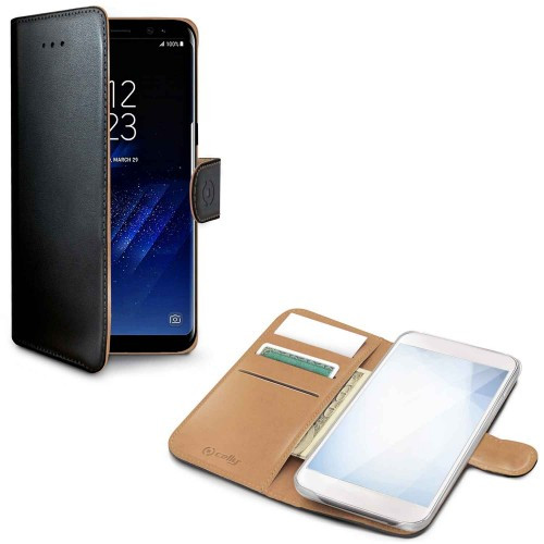 Celly Wallet Case Galaxy S8 Sv/be