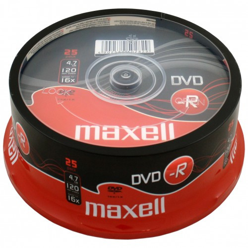 Maxell DVD-R 4.7GB 25-pack cakebox