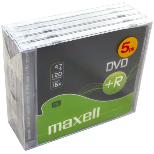 Maxell DVD+R 4.7GB  5-pack JewelCase