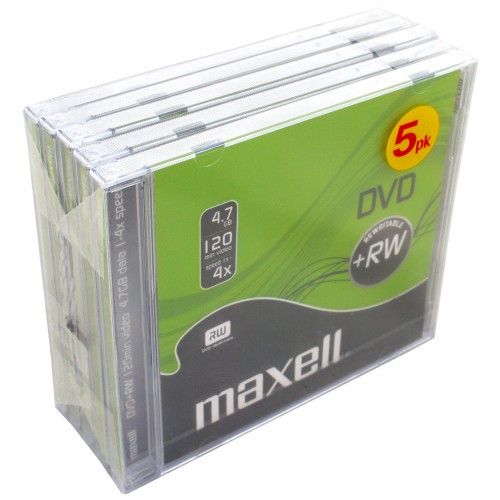 Maxell DVD+RW 4.7GB 5-pack JewelCase
