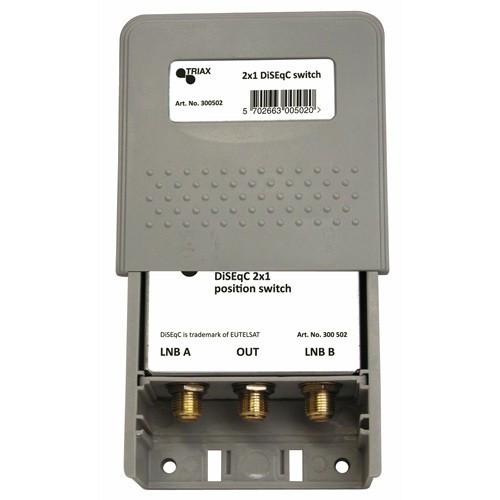 Triax DiSEqC 2-vägs Switch Mini