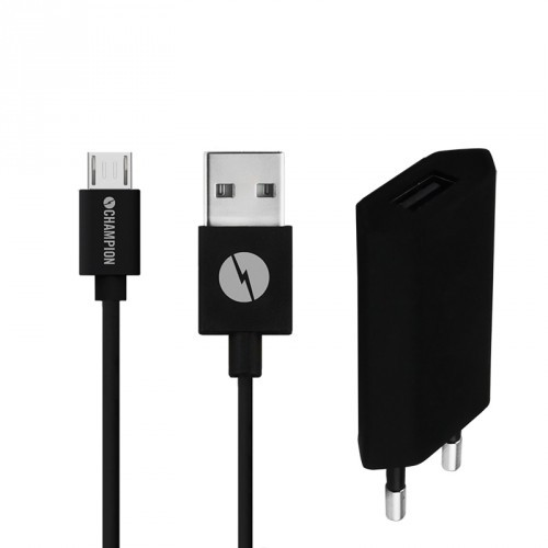 Champion Ladd&Synk Kit MicroUSB 1A Sv