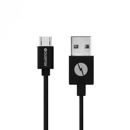Champion Micro USB 1m Svart 25-pack