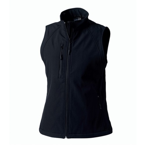 Russell Ladies Soft Shell Gilet Black