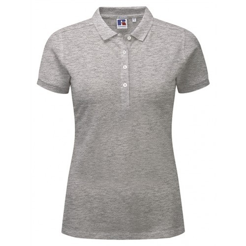 Russell Ladies Stretch Polo Light Oxford