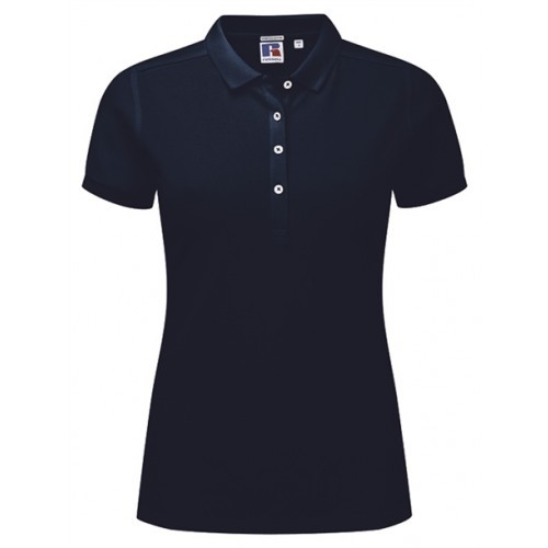 Russell Ladies Stretch Polo French Navy