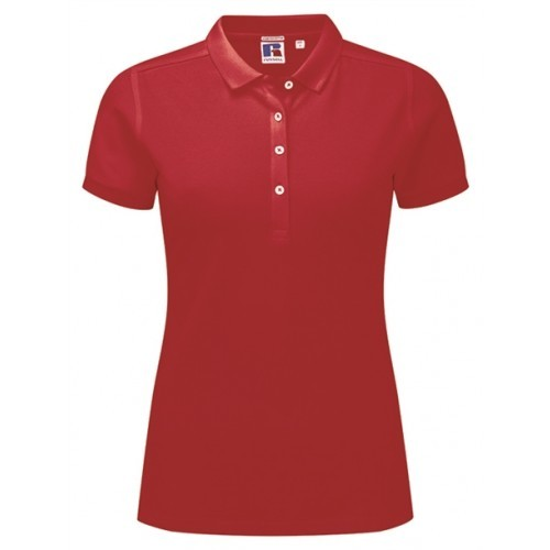 Russell Ladies Stretch Polo Classic Red