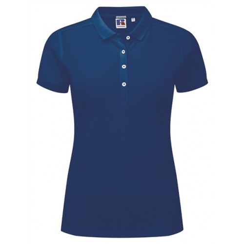 Russell Ladies Stretch Polo Bright Royal