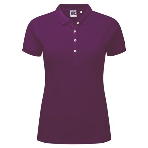 Russell Ladies Stretch Polo Purple