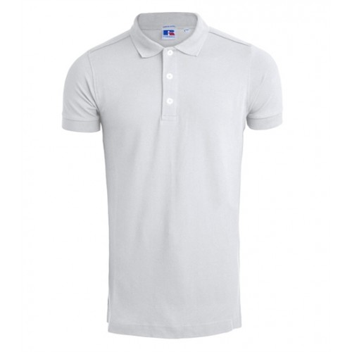 Russell Men's Stretch Polo white