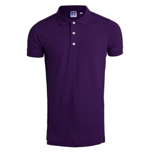 Russell Men's Stretch Polo Purple