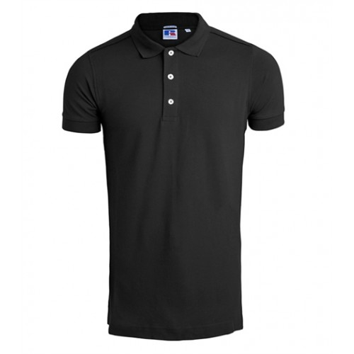 Russell Men's Stretch Polo Black