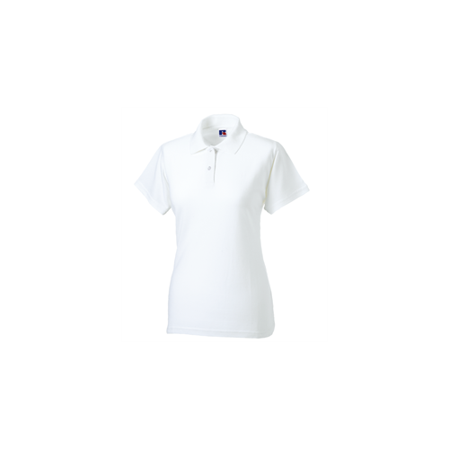 Russell Ladies Classic Cotton Polo White