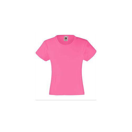 Fruit of the loom Girls Valueweight T Fuschia