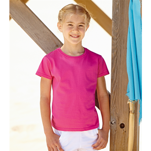 Fruit of the loom Girls Valueweight T Purple
