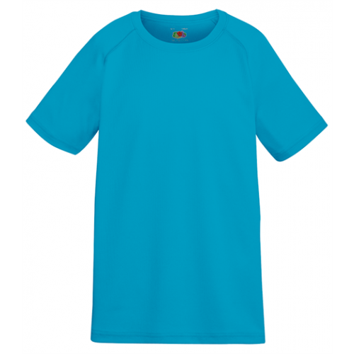 Fruit of the loom Kids Performance T Azure Blue
