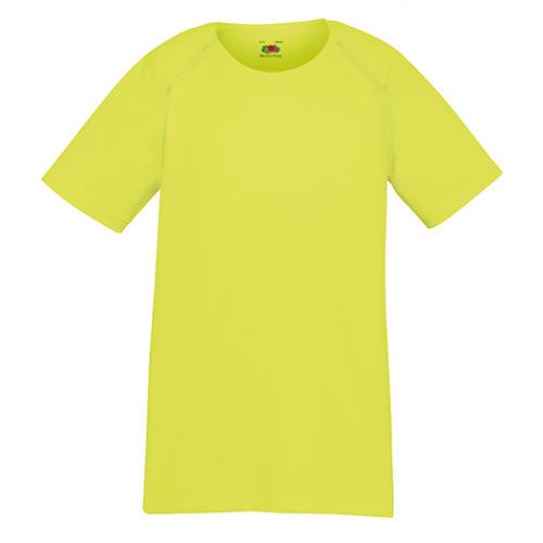 Fruit of the loom Kids Performance T XK Bright Yellow