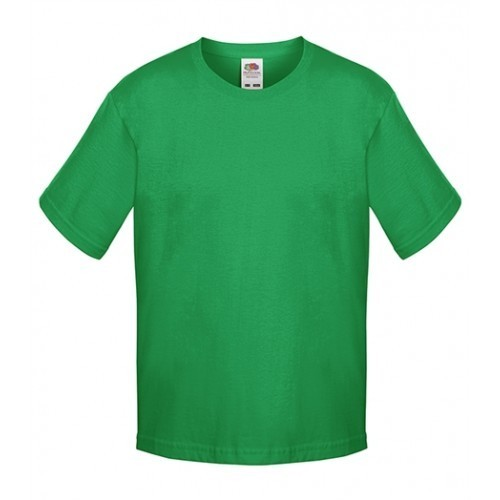 Fruit of the loom Kids Sofspun T KELLY GREEN