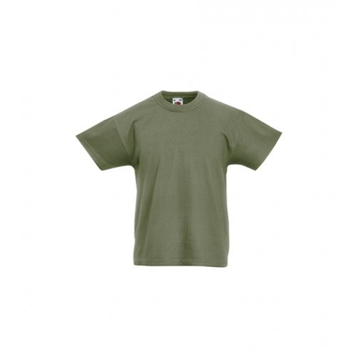 Fruit of the loom Kids Original T Classic Olive
