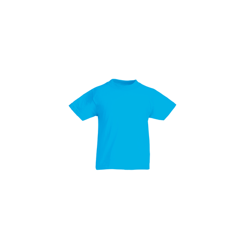 Fruit of the loom T- shirt Kids Valueweight Azure Blue