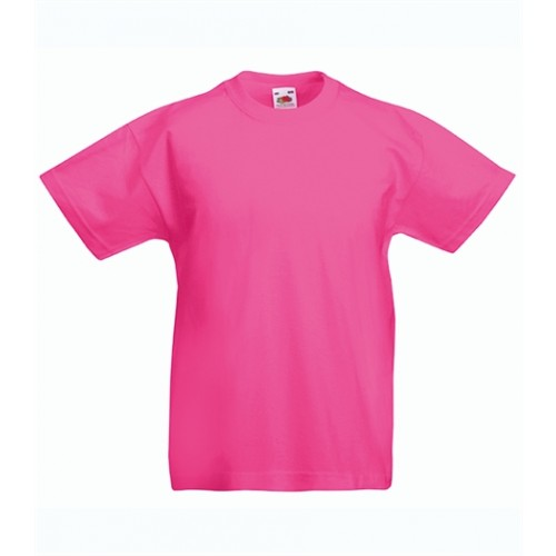 Fruit of the loom T- shirt Kids Valueweight Fuchsia