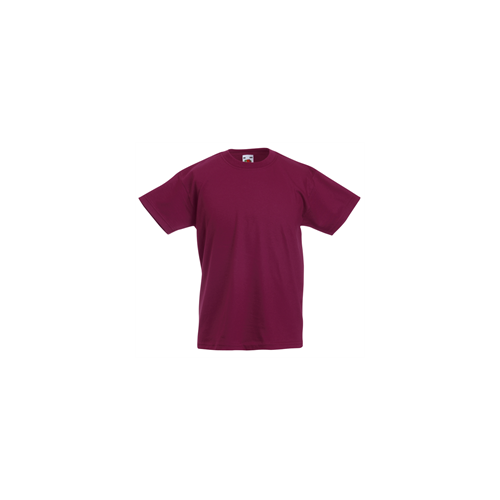 Fruit of the loom T- shirt Kids Valueweight Burgundy
