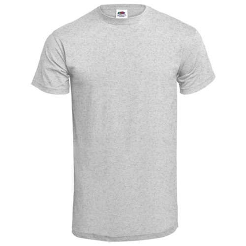 Fruit of the loom T-shirt Valueweight Crew Neck Heather Grey